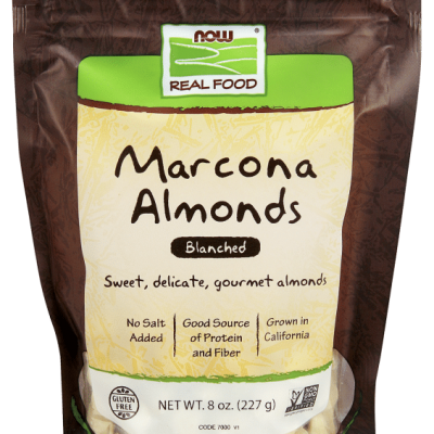 MARCONA ALMONDS- BLANCHED  8 OZ