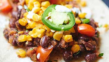 Black Bean & Toasted Corn Tacos